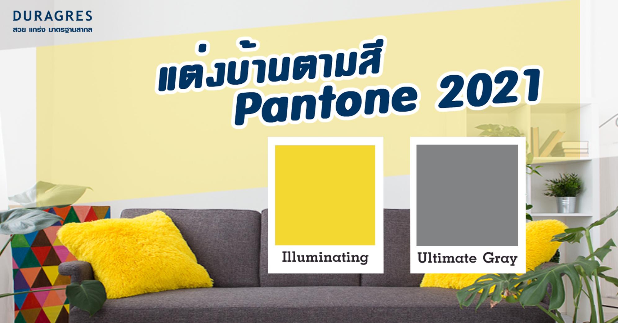 ตกแต่งบ้านตามสี Pantone 2021